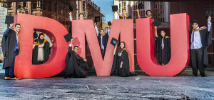 DMU graduation publicity picture. The students on the picture all know what the image might be used for, that is, advertising, posters, internet etc etc